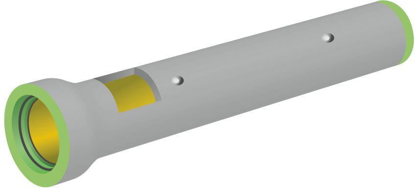 Ecoresist pipe liner illustration