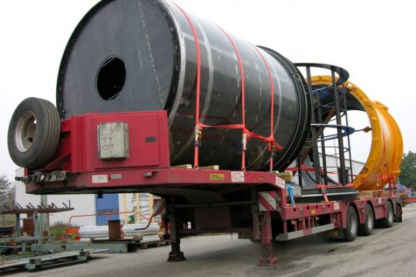 Large jacking Pipe mold on truck