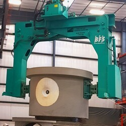 BFS concrete product turning device