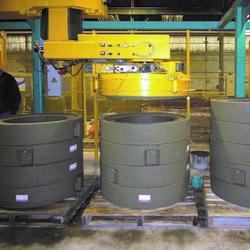 BFS concrete product gripper without base pallets
