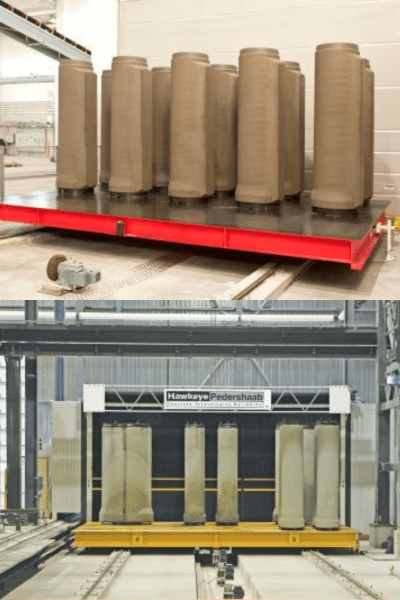 concrete pipe floor moving system