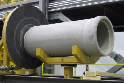 Pipe cradle hydrostatic testing machine