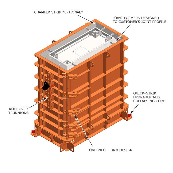 One-piece box form