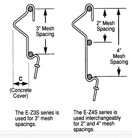 E-X Klip spacer dimensions
