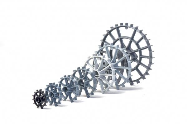 plaswheel plastic spacer size ranges